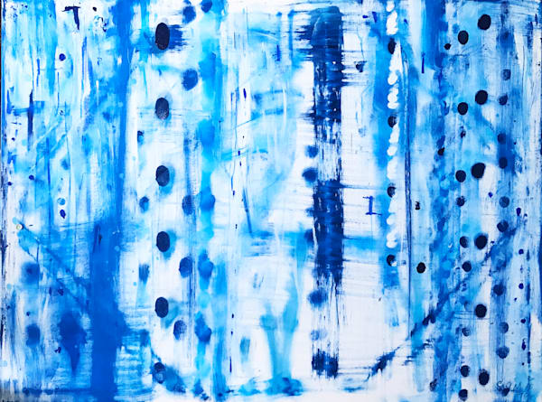 Blue Birch - Original Abstract Painting by Soma79