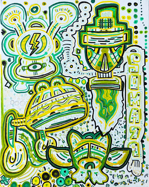 Bash Brothers -  - Original Abstract Pop Art Painting by Soma79