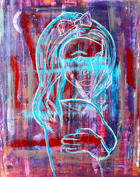 Blue Isis - Original Abstract Pop Art Painting by Soma79