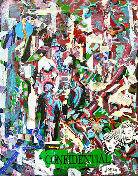 Confidential Joker - Original Abstract Pop Art Collage Painting by Soma79