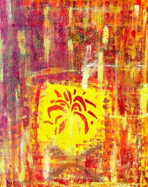 Fire Side - Original Abstract Pop Art Painting by Soma79