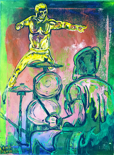 Hobgoblin's Drummer - Original Pop Art Painting by Soma79