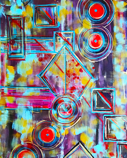 Mercury Pools - Original Abstract Painting by Soma79