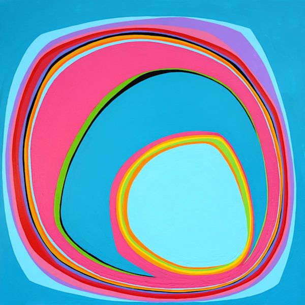 "Blow Me Away, acrylic on canvas. 30""x30"""