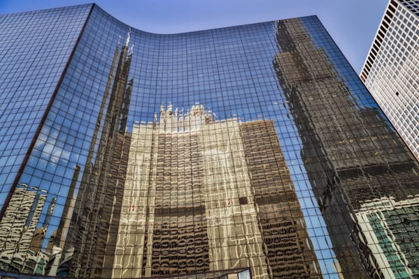 Sears Tower and Civic Opera Reflection, Chicago, Illinois, USA