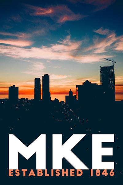 MKE  Morning Skyline Silhouette
