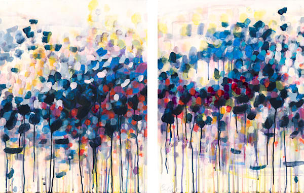 New Spring Diptych Art | Caroline Wright Art