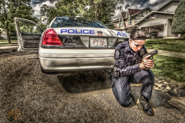 Female City Police Art | DanSun Photo Art
