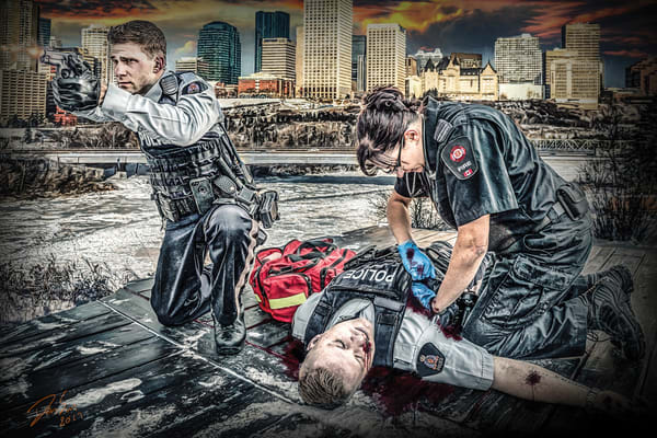 Officer Down Art | DanSun Photo Art