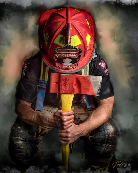 The Firefighter Art | DanSun Photo Art