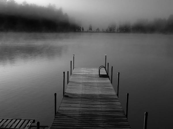 Maine Dock - Black and White