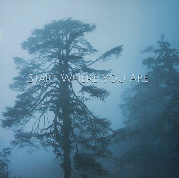Tree In Fog   Large Blank Writing Journal