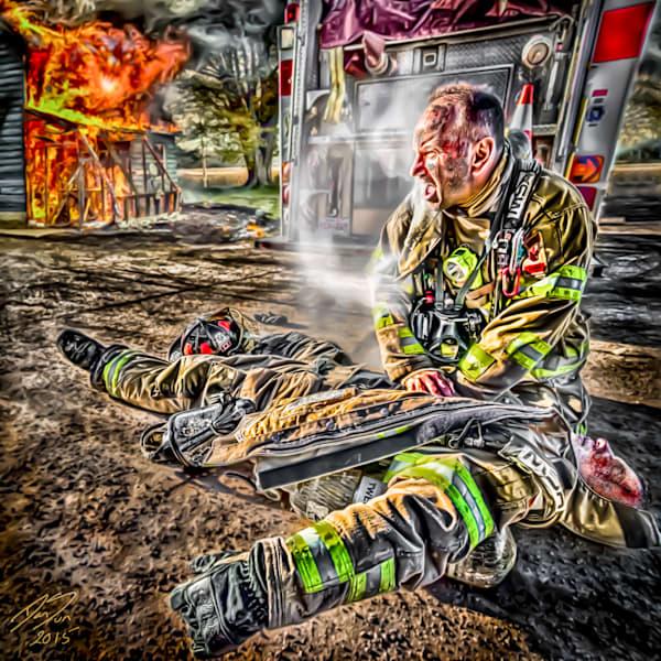 Firefighter Down Art | DanSun Photo Art