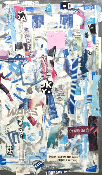 The Division Spell #2 - Original Abstract Pop Art Collage Painting by Soma79