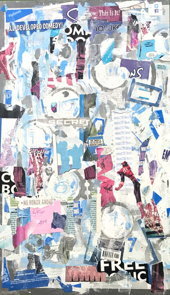 The Division Spell #1 - Original Abstract Pop Art Collage Painting by Soma79