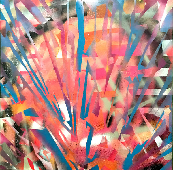 Jay's Spray - Original Abstract Painting by Soma79