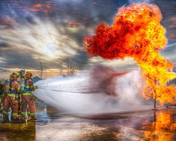 Fire Training Art | DanSun Photo Art