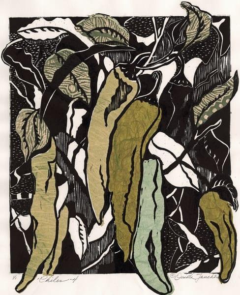 Chiles #4, original fine art for sale by Ouida Touchon