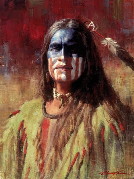 Native American Art | Indian Painting | American Brave