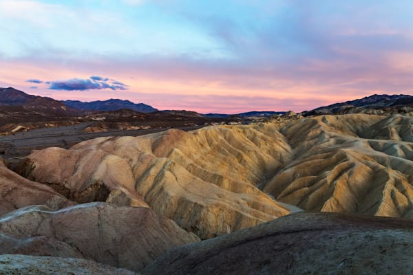 Zabriskie Point Sunset Photograph For Sale As Fine Art