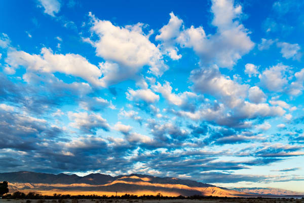 Clouds Over Furnace Creek in Death Valley Photograph For Sale As Fine Art
