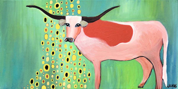 Longhorn a la Klimt Large Art for Sale
