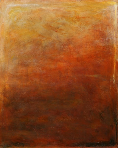 Light Above is an acrylic painting in earth-tones. Art by Susan Kraft