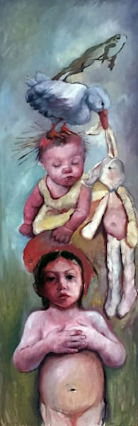 Shop for original paintings like Leap Frog, oil on canvas by Jude Harzer at Matt McLeod Fine Art Gallery.