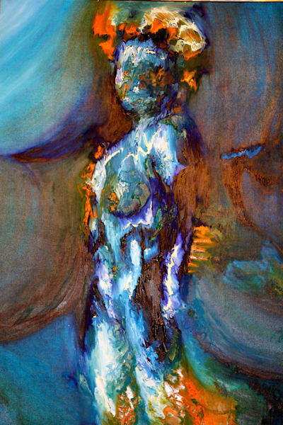 Shop for original paintings like Lady Electric, oil on canvas by Ryan Schmidt at Matt McLeod Fine Art Gallery.
