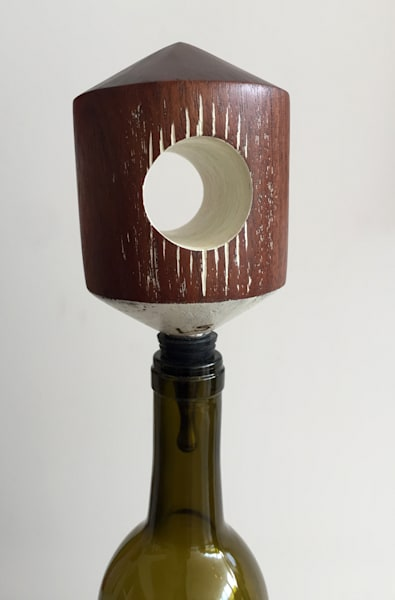 Shop for original Wood-Works like the tunnel wine stopper, by Jude Harzer at Matt McLeod Fine Art Gallery.