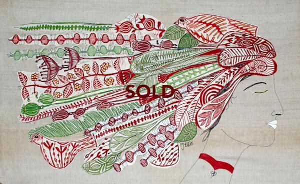 art, painting, collage, mixed media art by Printmaker Mariann Johansen-Ellis