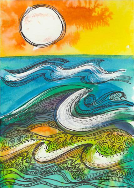 Sun Doodle Waves 5x7