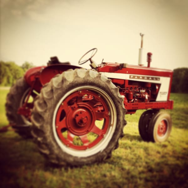 Red Tractor photograph - for sale as fine art prints