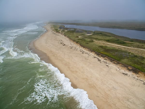 """Cisco Beach Hurricane Waves"" Nantucket Aerial Fine Art Photograph"