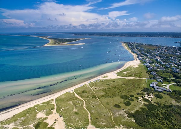 """Over Nantucket"" Fine Art Aerial Island Beach Photography"
