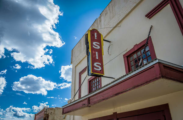Horizontal Color Picture Old Isis Movie Theater Historic Downtown Victor Colorado