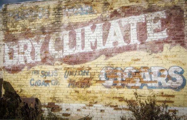 Photograph Faded Solis Cigar Company Sign Downtown Victor Colorado