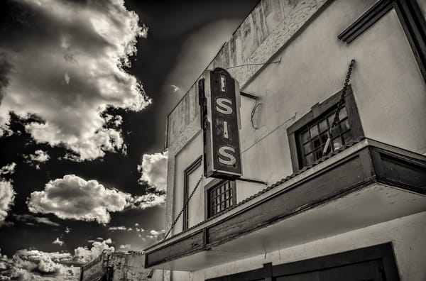 Horizontal Photo of Isis Movie Theater in Historic Downtown Victor Colorado