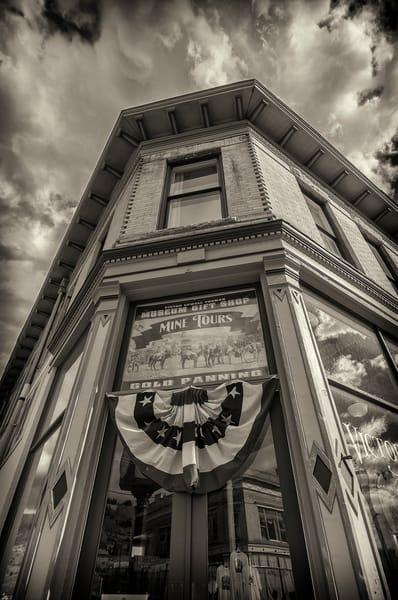 B&W Photo Lowell Thomas Museum Gift Shop Victor Colorado