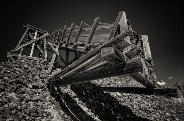 Black and White Photo Old Abandoned Gold Mine Victor Colorado