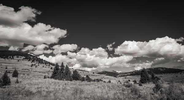 Black & White Photo of Landscape Near Abandoned Gold Mines  Victor Colorado