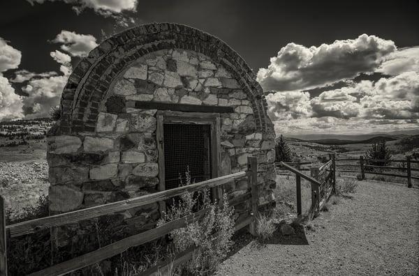 Black & White Photograph Stone Dynamite Shack Victor Colorado