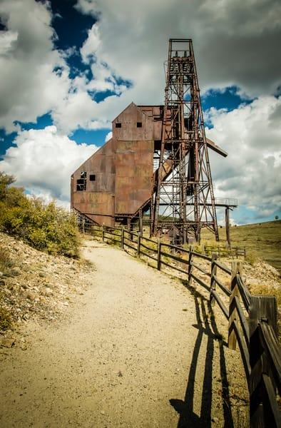 Landscape Color Photo Abandoned Gold Mine Victor Colorado