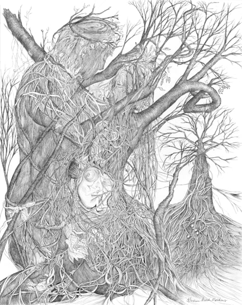 Kristina Hutch Matthews | Visionary Fine Art & Drawings | Tree Hugs