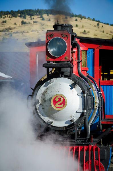 Photo of Cripple Creek & Victor Narrow Gauge Steam Locomotive  Engine #2