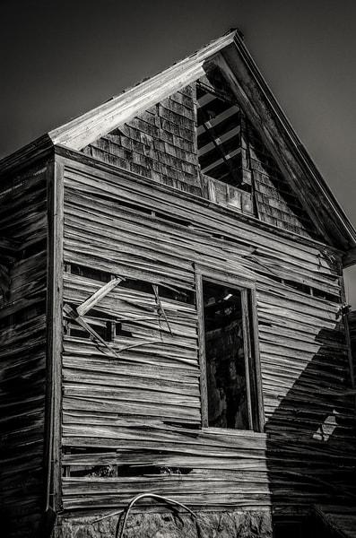 B&W Sepia Photograph Old Cedar House Cripple Creek Colorado Route 67