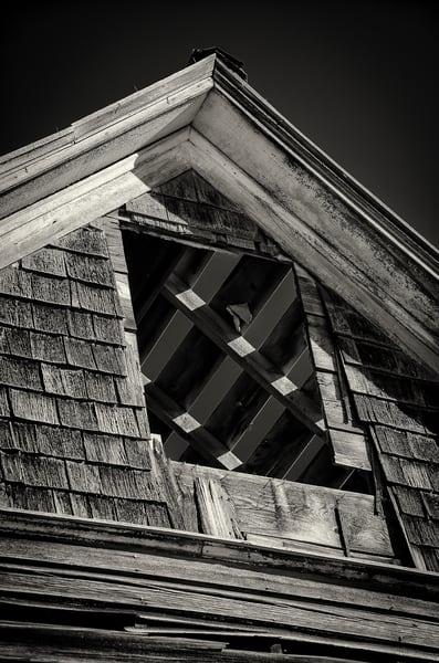 Black & White Photo Abandoned Cedar Homestead Cripple Creek Colorado