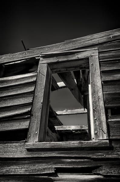 Photo of Weathered Window Frame Abandoned Cedar House Cripple Creek Colorado
