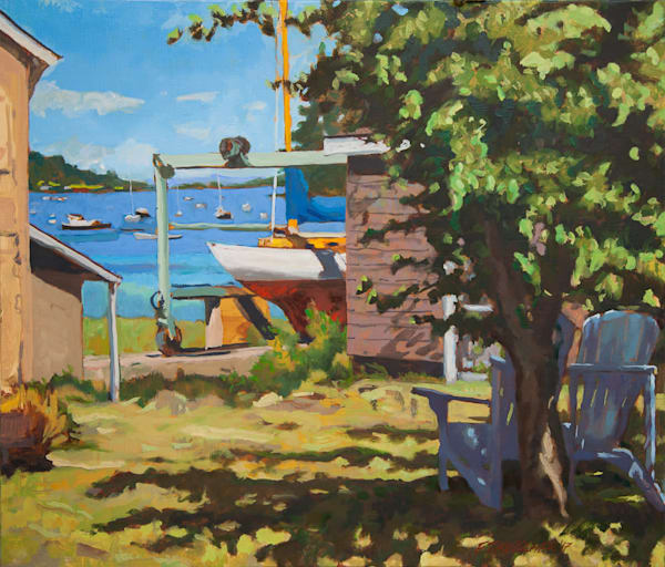 Bob's Boat Hauled Out at Tim's Yard, Quartermaster Harbor