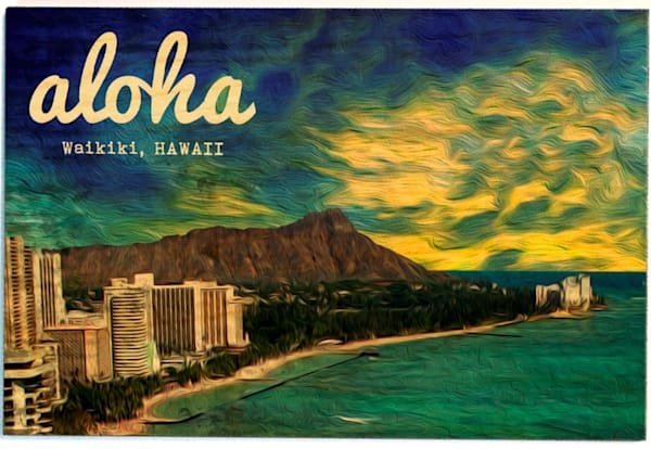 Wood Postcards | Waikiki Hawaii